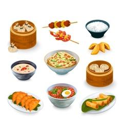 Asian food set vector