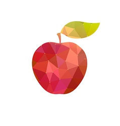 Apple with abstract texture vector
