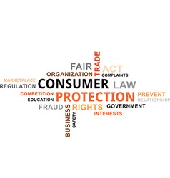 Word cloud consumer protection vector