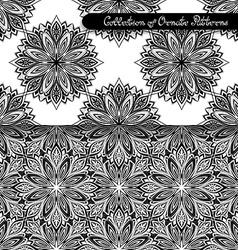 Set of 2 Seamless Vintage Patterns vector image
