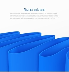 Abstract 3d blue paper ribbon background vector image