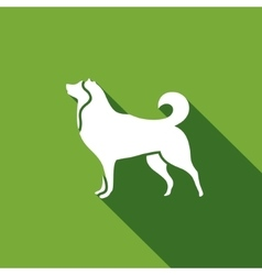 Husky dog icon vector