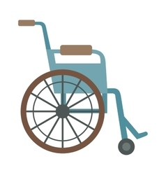 Wheelchair flat design medical icon vector