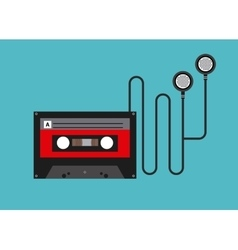 Cassette icon design vector