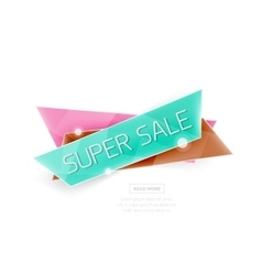 Colorful geometric website sale tag button vector