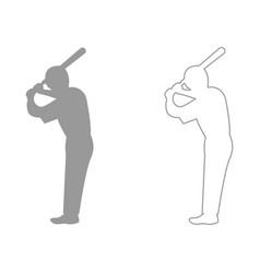 ballplayer set icon vector image