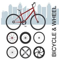 Bicycle wheel Set vector image vector image