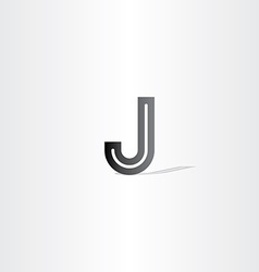 black letter j logo design element vector image vector image