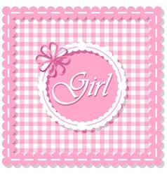 Checkered background girl vector