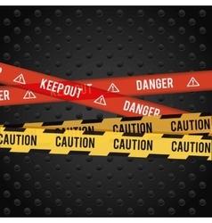 Danger advertising design vector image vector image