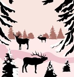 Deer woods vector