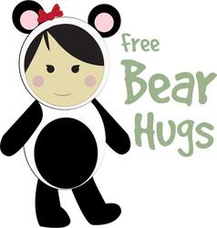Free bear hugs vector