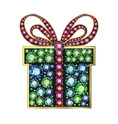 Gem gift box vector image