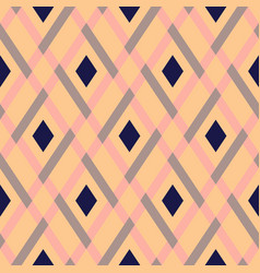 Geometric seamless argyle pattern vector