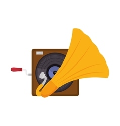 gramophone vynil music device vector image vector image