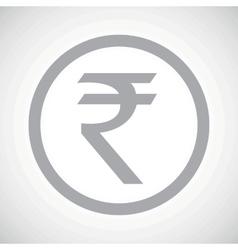 Grey rupee sign icon vector