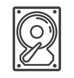 hard disk line icon hardware and hdd vector image