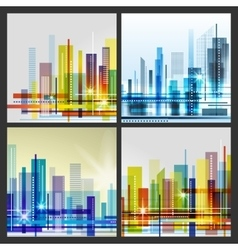 Modern city life abstract background design with vector
