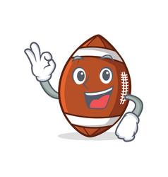 okay american football character cartoon vector image