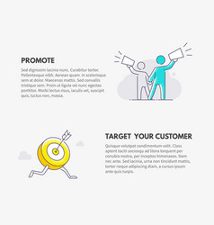promote and target your customer marketing vector image vector image
