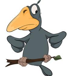 Raven from a fairy tale cartoon vector