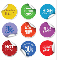 Sale stickers and tags collection 1 vector