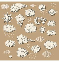 sky doodles vector image vector image