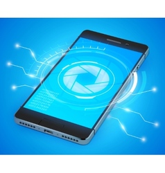 Smartphone ui realistic vector