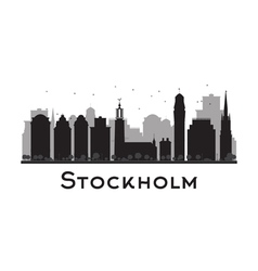 Stockholm silhouette vector