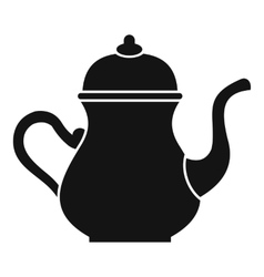 Traditional turkish teapot icon simple style vector