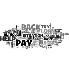 What to do if you can t pay back your loan text vector