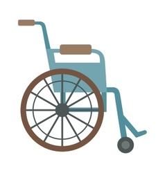 Wheelchair flat design medical icon vector