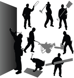 Worker with their tool vector