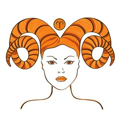 Zodiac sign of Aries vector image