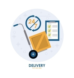 Package and cart icon delivery and shipping vector