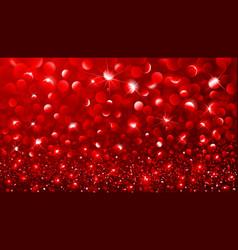 Christmas red bokeh effect vector