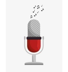 microphone retro device icon vector image