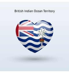 Love british indian ocean territory symbol heart vector