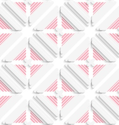 Diagonal layered frames and red lines pattern vector