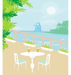 Tropical drink bar vector