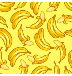 Seamless pattern with stylized fresh ripe bananas vector