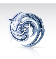 Water swirl as design element vector