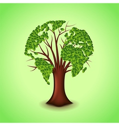 Tree world concept background vector image