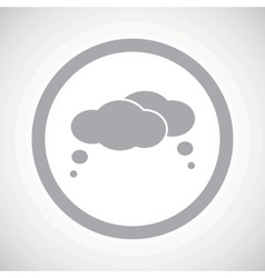 Grey thoughts sign icon vector