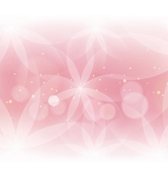 Abstract floral light pink background for design vector