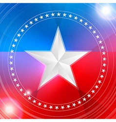 White star in a circular pattern vector