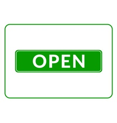Open sign green vector