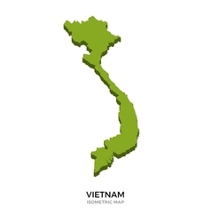 Isometric map of vietnam detailed vector
