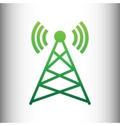 Antenna sign green gradient icon vector