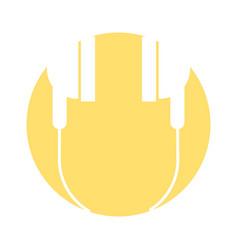 audio earphones isolated icon vector image vector image